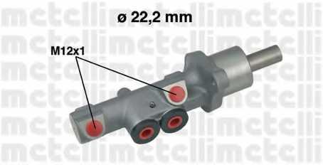 Главный тормозной цилиндр METELLI 05-0534 - изображение
