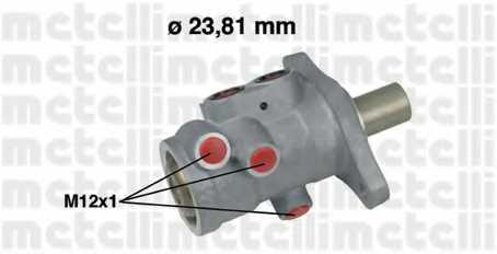 Главный тормозной цилиндр METELLI 05-0556 - изображение
