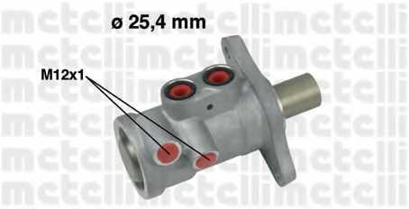 Главный тормозной цилиндр METELLI 05-0557 - изображение