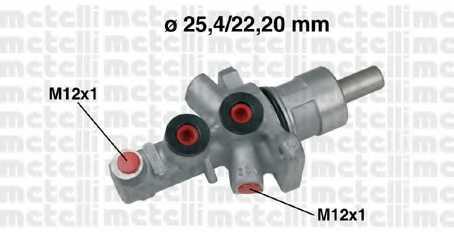 Главный тормозной цилиндр METELLI 05-0566 - изображение