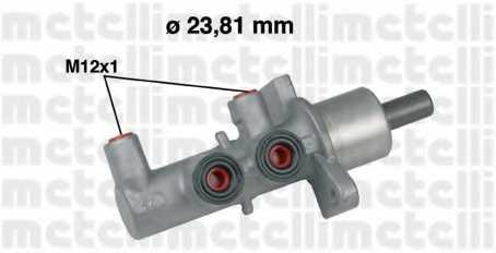 Главный тормозной цилиндр METELLI 05-0567 - изображение