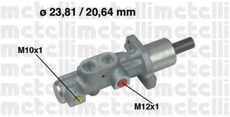 Главный тормозной цилиндр METELLI 05-0576 - изображение