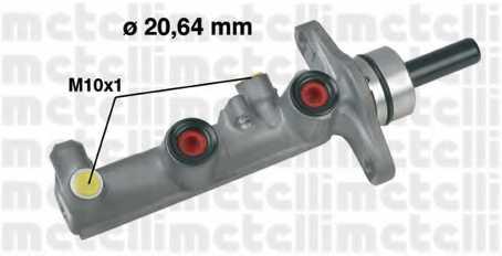 Главный тормозной цилиндр METELLI 05-0590 - изображение