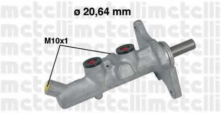 Главный тормозной цилиндр METELLI 05-0592 - изображение