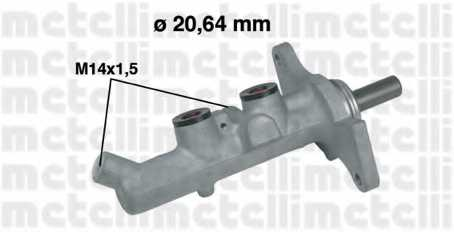 Главный тормозной цилиндр METELLI 05-0593 - изображение