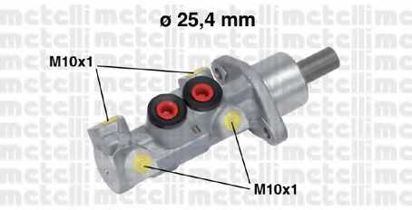 Главный тормозной цилиндр METELLI 05-0604 - изображение