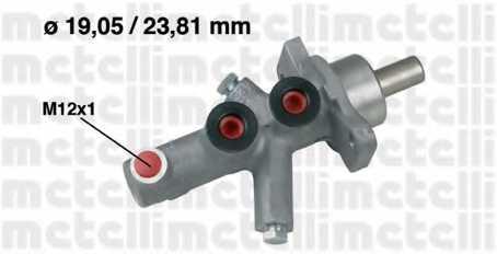 Главный тормозной цилиндр METELLI 05-0622 - изображение