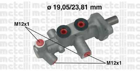 Главный тормозной цилиндр METELLI 05-0626 - изображение