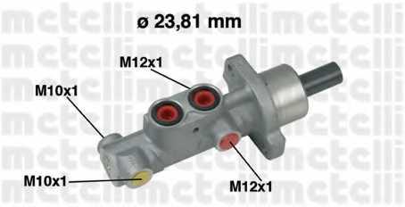 Главный тормозной цилиндр METELLI 05-0631 - изображение