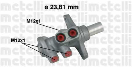 Главный тормозной цилиндр METELLI 05-0639 - изображение