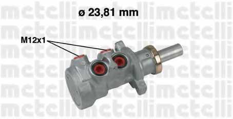 Главный тормозной цилиндр METELLI 05-0640 - изображение