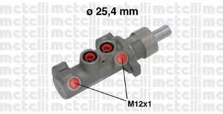 Главный тормозной цилиндр METELLI 05-0642 - изображение