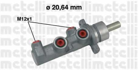 Главный тормозной цилиндр METELLI 05-0644 - изображение