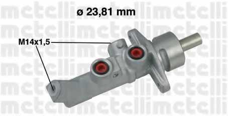 Главный тормозной цилиндр METELLI 05-0648 - изображение