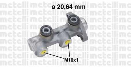 Главный тормозной цилиндр METELLI 05-0760 - изображение