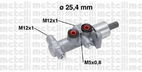 Главный тормозной цилиндр METELLI 05-0767 - изображение