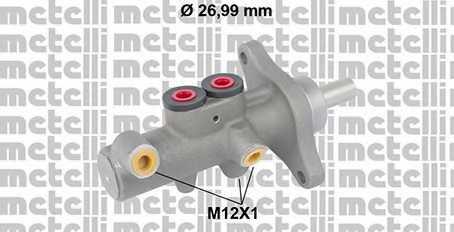 Главный тормозной цилиндр METELLI 05-0832 - изображение