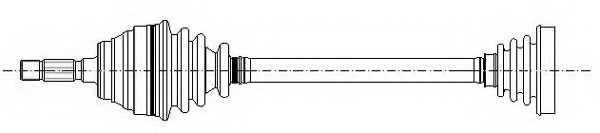 Приводной вал METELLI 17-0002 - изображение