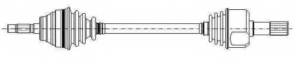Приводной вал METELLI 17-0058 - изображение