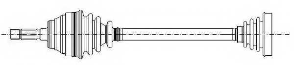 Приводной вал METELLI 17-0188 - изображение