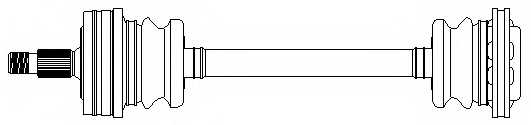 Приводной вал METELLI 17-0214 - изображение