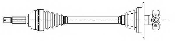 Приводной вал METELLI 17-0739 - изображение