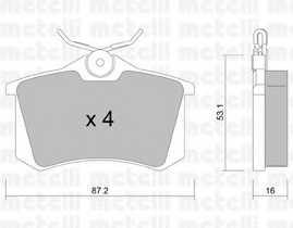 Колодки тормозные дисковые METELLI 22-0100-2 - изображение