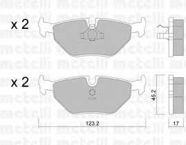 Колодки тормозные дисковые METELLI 22-0125-0 - изображение