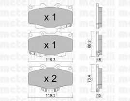 Колодки тормозные дисковые METELLI 22-0129-0 - изображение