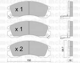 Колодки тормозные дисковые METELLI 22-0134-0 - изображение