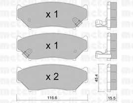 Колодки тормозные дисковые для SUBARU IMPREZA(GFC) / SUZUKI GRAND VITARA(FT,GT), JIMNY(FJ), VITARA(ET,TA) <b>METELLI 22-0136-0</b> - изображение