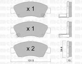 Колодки тормозные дисковые METELLI 22-0138-0 - изображение