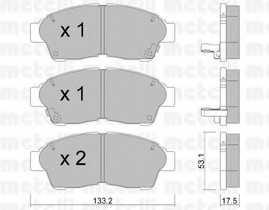 Колодки тормозные дисковые METELLI 22-0149-0 - изображение