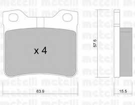 Колодки тормозные дисковые METELLI 22-0192-1 - изображение