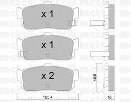 Колодки тормозные дисковые METELLI 22-0193-1 - изображение