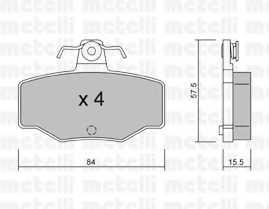 Колодки тормозные дисковые METELLI 22-0199-0 - изображение
