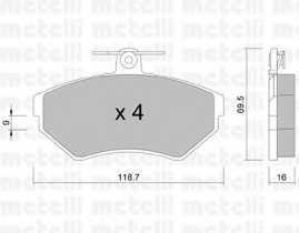 Колодки тормозные дисковые METELLI 22-0215-1 - изображение
