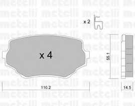 Колодки тормозные дисковые METELLI 22-0249-0 - изображение