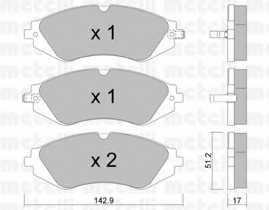Колодки тормозные дисковые METELLI 22-0294-0 - изображение