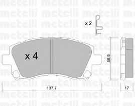 Колодки тормозные дисковые METELLI 22-0296-0 - изображение