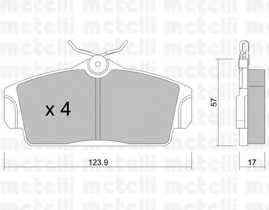 Колодки тормозные дисковые METELLI 22-0305-0 - изображение