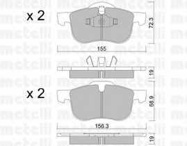 Колодки тормозные дисковые METELLI 22-0309-0 - изображение