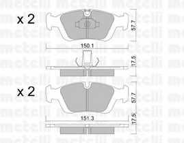 Колодки тормозные дисковые METELLI 22-0312-0 - изображение