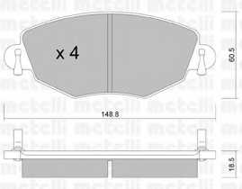 Колодки тормозные дисковые для FORD MONDEO(B4Y,B5Y,BWY) <b>METELLI 22-0318-0</b> - изображение