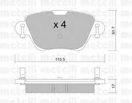 Колодки тормозные дисковые METELLI 22-0319-0 - изображение
