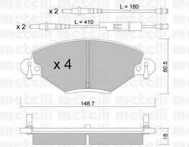 Колодки тормозные дисковые METELLI 22-0331-0 - изображение