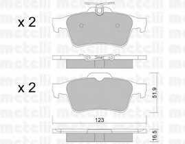 Колодки тормозные дисковые METELLI 22-0337-1 - изображение