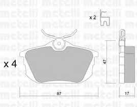 Колодки тормозные дисковые METELLI 22-0347-0 - изображение