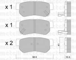 Колодки тормозные дисковые METELLI 22-0365-0 - изображение