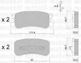 Колодки тормозные дисковые METELLI 22-0400-0 - изображение